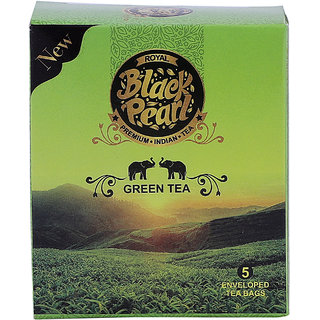 Royal Black Pearl (Heritage Blend) Green Tea Bags 5 Tea Bags