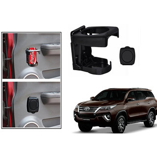 Kunjzone  Foldable Car Drink/Bottle Holder Black For Toyota Fortuner type 3