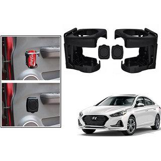 Kunjzone  Foldable Car Drink/Bottle Holder Black Set Of 2 For Hyundai Sonata