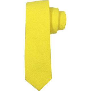 69th Avenue Men's Cotton Solid Yellow Necktie