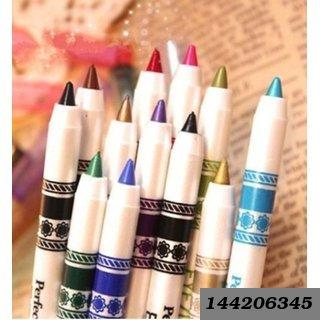 Second Generation 12 PCS Multi Colours Eye Lip Liner Pencil FREE Kajal
