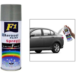 F1 Car Scratch Remover Touchup Spray Paint for Car  Bike 450ml Silver