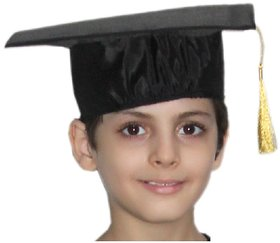 Kaku Fancy Dresses Graduation Hat for Degree Convocation Black Free Size