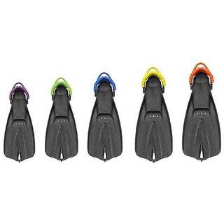 GO Rental Fin - Black w Orange Strap XL
