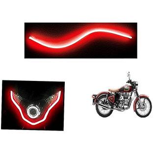 Kunjzone   Flexible 30cm Bike Headlight Neon LED DRL Tube RED For  Enfield Classic 350