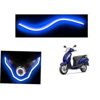 Kunjzone   Flexible 30cm Bike Headlight Neon LED DRL Tube BLUE For Suzuki Access 125