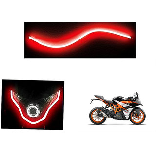 Kunjzone   Flexible 30cm Bike Headlight Neon LED DRL Tube RED For KTM RC390