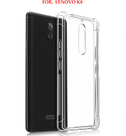 Lenovo K8  - Anti-Knock Design Shock Absorbent Bumper Corners Soft Silicone Transparent Back Cover - LENOVO K8