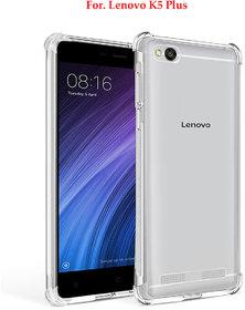 Lenovo K5 Plus - Anti-Knock Design Shock Absorbent Bumper Corners Soft Silicone Transparent Back Cover - LENOVO K5 PLUS