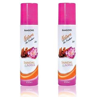 Ramsons Floral Sandal Lotus Combo Air Freshener Pack of 2