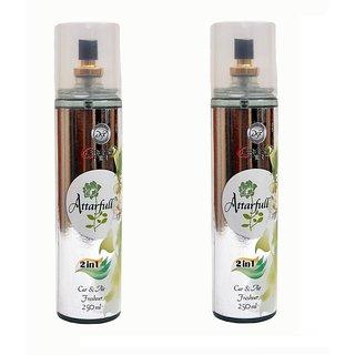 DSP 2 in 1 Attarfull Air Freshener Combo Pack of 2 250ML Each