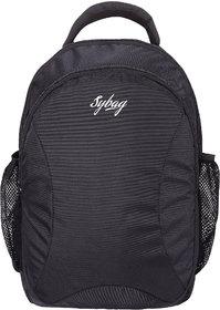 Sybag Black Casual Laptop Bagpack