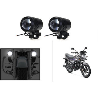 KunjZone Waterproof U3 Without LED Ring CREE 30 watt LED Motorcycle Bike Additional Headlights - Super Bright U3 Without LED Ring Laser Gun Used for Front Spot Light( 30W CREE) (Set Of 2) For Honda CB Shine