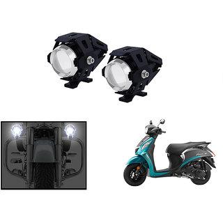 KunjZone 3000LM CREE U5 LED Front Light Motorcycle Driving Fog Spot light for  Yamaha Fascino (Set Of 2)