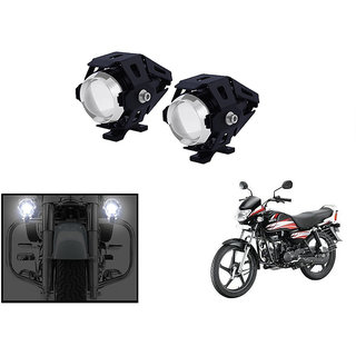 KunjZone 3000LM CREE U5 LED Front Light Motorcycle Driving Fog Spot light for  Hero HF Deluxe Eco (Set Of 2)