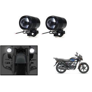 KunjZone Waterproof U2 CREE 30 watt LED Motorcycle Bike Additional Headlights - Super Bright U2 Laser Gun Used for Front Spot Light( 30W CREE) (Set Of 2) For Hero HF Deluxe i3s