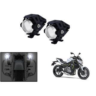 KunjZone 3000LM CREE U5 LED Front Light Motorcycle Driving Fog Spot light for  Kawasaki Z650 (Set Of 2)