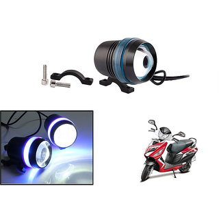 KunjZone Waterproof U3 With Blue LED Ring CREE 30 watt LED Motorcycle Bike Additional Headlights - Super Bright U3 With Blue LED Ring Laser Gun Used for Front Spot Light( 30W CREE) (1PC) For Hero Maestro Edge