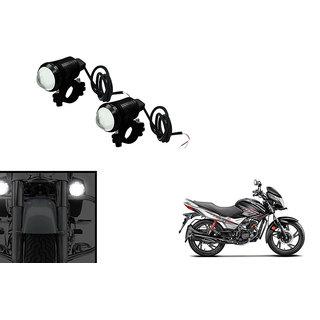 KunjZone U1 LED Motorycle Fog Light Bike Projector Auxillary Spot Beam Light  (Set Of 2) For Hero Glamour