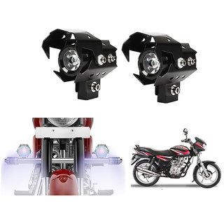 KunjZone U8 LED Motorycle Fog Light Bike Projector Auxillary High/Low Beam & Flashing Spotlight Beam Light  For Bajaj Discover 125 (Set of 2)