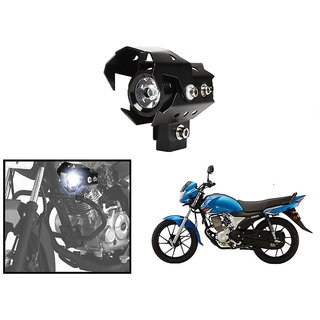 KunjZone U9 LED Motorycle Fog Light Bike Projector Auxillary High/Low Beam & Flashing Spotlight Beam Light  For Yamaha Saluto RX (1 PC)