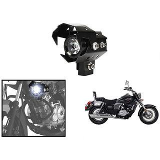 KunjZone U8 LED Motorycle Fog Light Bike Projector Auxillary High/Low Beam & Flashing Spotlight Beam Light  For UM Renegade Classic (1 PC)