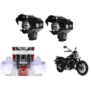 KunjZone U8 LED Motorycle Fog Light Bike Projector Auxillary High/Low Beam & Flashing Spotlight Beam Light  For Bajaj Avenger 220 Cruise (Set of 2)