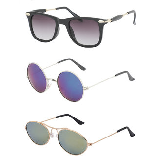 2166f9d7ad Buy Amour Propre Multi Color Aviator Sunglasses Pack of 23 Online - Get 47%  Off