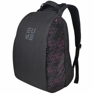 Eume Genx Massager 26 Ltr Laptop Backpack For 15.6 inch Laptop and Nylon Water Resistance Backpack With 2 USB Charging Port- Pink