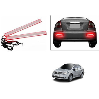 Kunjzone Slim Daytime LED DRL Lights Red Set Of 2 For Maruti SX4