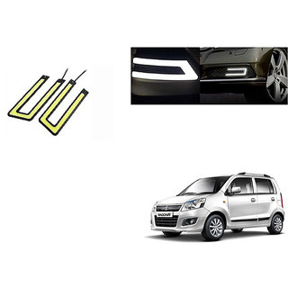 Kunjzone Slim U Shape Daytime LED DRL Lights WHITE Set Of 2 For Maruti WagonR