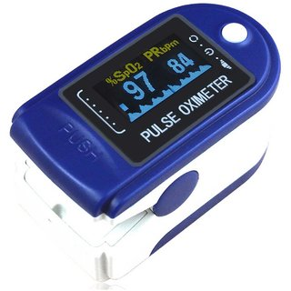 Thermocare pulse oximeter fingertip JZK-301 Blue Fingertip Pulse Oximeter Oximetry Blood Oxygen Saturation Monitor