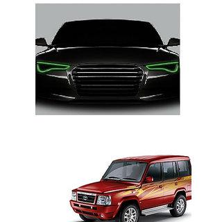 Kunjzone Flexible 30cm Car Headlight Neon LED DRL Tube-Green Set Of 2 For Tata Sumo type 1
