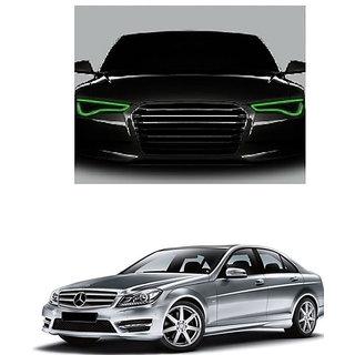 Kunjzone Flexible 30cm Car Headlight Neon LED DRL Tube-Green Set Of 2 For Mercedes Benz C Class