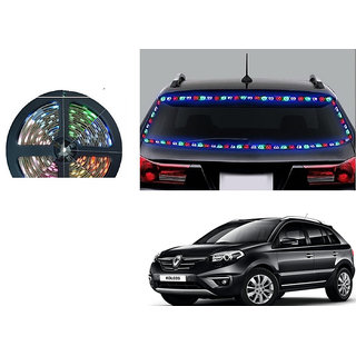 Kunjzone 5 Meters Waterproof Cuttable LED Lights Strip Roll - (RGB)Multicolor For Renault Koleos