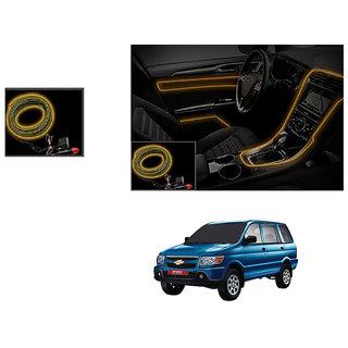 Kunjzone Car Interior Ambient Wire Decorative LED Light Orange For Chevrolet Tavera