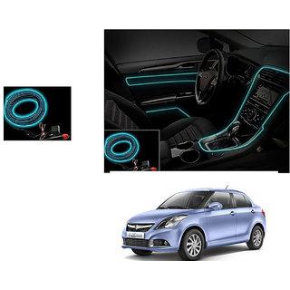 Kunjzone Car Interior Ambient Wire Decorative LED Ice Blue For Maruti DZire