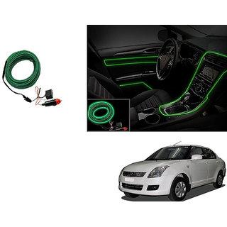 Kunjzone Car Interior Ambient Wire Decorative LED Light Green For Maruti DZire