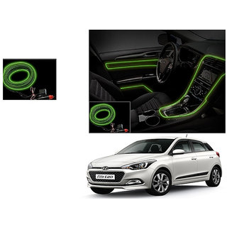 Kunjzone Car Interior Ambient Wire Decorative LED Light Lemon For Hyundai Elite I20