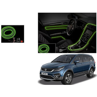 Kunjzone Car Interior Ambient Wire Decorative LED Light Lemon For Tata Hexa