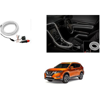 Kunjzone Car Interior Ambient Wire Decorative LED Light White For Nissan X Trail