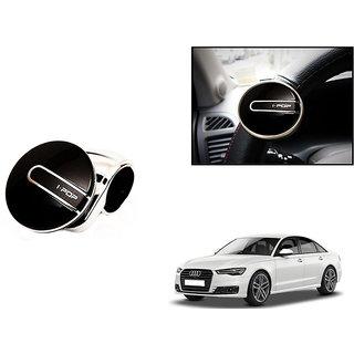 KunjZone i-Pop Platinum Black Car Steering Wheel Power Holder Knob Spinner For Audi A6