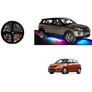 Kunjzone Car Underbody 5 Meters Cuttable Multicolor (RGB) LED Roll For Maruti Swift