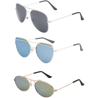 e30ad75e77 Buy Amour Propre Multi Color Aviator Sunglasses Pack of 43 Online - Get 43%  Off