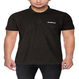 Leerooy T-shirt black colour for boys  men