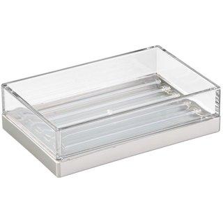 InterDesign Rain Soap Dish Holder Bathroom Organizer and Accessories - Clear
