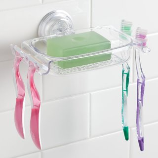 InterDesign Rain Power Lock Suction Soap Dish - Clear
