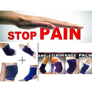SNR Combo Ankle + Knee + Elbow + Palm Support Pairs for GYM Exercise Grip CodEdi-0611