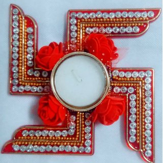Swastik Rangoli With Tea Candle