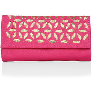 Lady Queen pink golden clutch